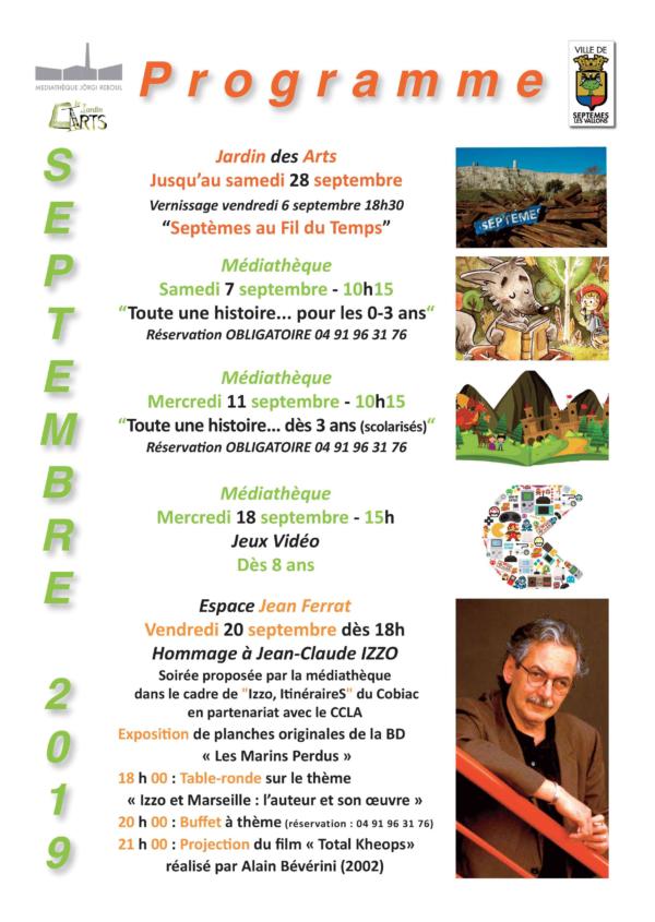 Programme médiathèque et Jardin des Arts janvier 2020