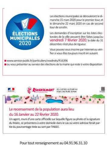 Inscription aux listes électorales & Recensement de la population