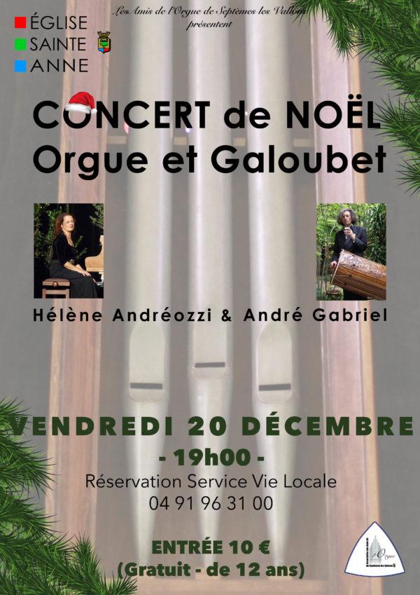 Concert de noël orgue et galoubet
