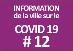Information de la ville sur le covid-19 #12