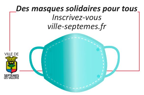 Des masques solidaires pour tous …INSCRIVEZ VOUS