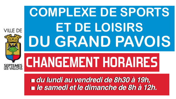 Grand pavois : Changement horaires