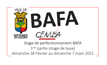 STAGE BAFA 1ère partie 2021