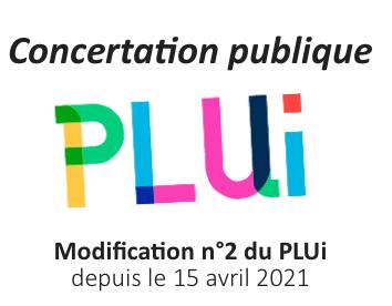 Concertation publique - Modification n°2 du PLUi