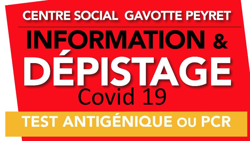 DÉPISTAGE COVID 19 GAVOTTE PEYRET MERCREDI 28 AVRIL