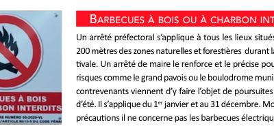 Barbecues à bois ou à charbon interdits