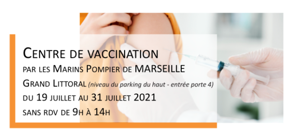 Centre de vaccination du 19 au 31 juillet 2021