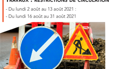 Travaux : restrictions de circulation
