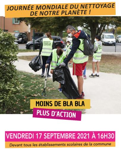 Journée mondiale du nettoyage de notre planète !