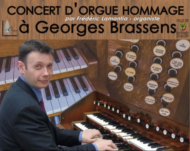 Concert d'orgue Hommage à Georges Brassens